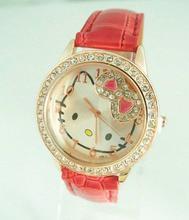 Holiday sale Gogoey Hello kitty crystal watch Children Women wholesale wrist quartz watch new arrival  go033