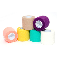Hot Sale Colorful Self Adhesive Ankle Finger Muscles Care Elastic Medical Bandage Gauze Dressing Tape Sports Wrist Support new(China (Mainland))