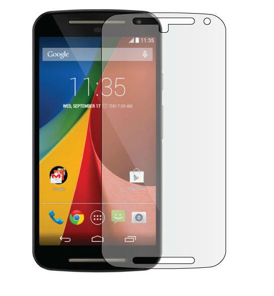 3 PCS Front HD Transparent Clear Screen Protective Film + Cloth For Motorola For MOTO G2 XT1063(China (Mainland))