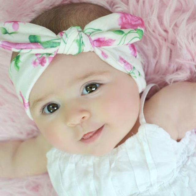 1 шт. милый ребенок младенческой тюрбан кроличьи уши повязка на голову малышей девочка ...