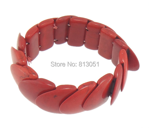 Free shipping!!!Fashion Turquoise Bracelets,Korean, Natural Turquoise, Nuggets, red, 24x25.80x7.20mm, Length:Approx 7 Inch<br><br>Aliexpress