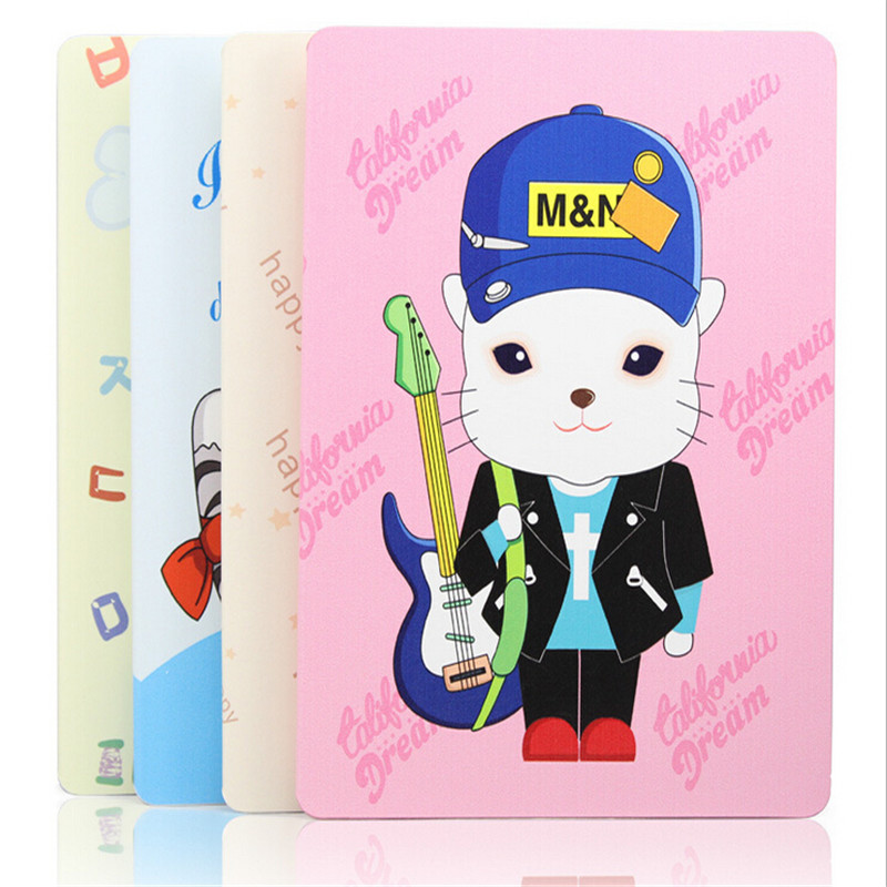 Leather case for ipad air cover cute personality animal slim tablet case prints cat bear dog(China (Mainland))