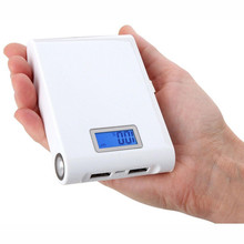 Free Shipping Large Capacity 12000mAh Mobile Power Bank Portable Charger with LED Flashlight