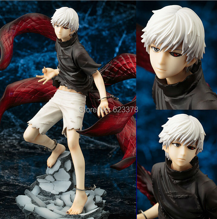 Tokyo Ghoul Figure Kaneki Ken Action Figures Model Toy Cartoon Figuras Anime Kid Toys Pvc Tokyo Ghoul Figure 220mm(China (Mainland))