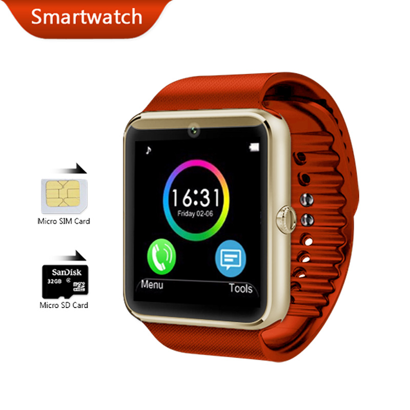 Smart Watch Android Wear Bluetooth Smartwatch Waterproof Mobile Phone Wrist Watches GSM Camera Clock with Calculator Bracelet(China (Mainland))