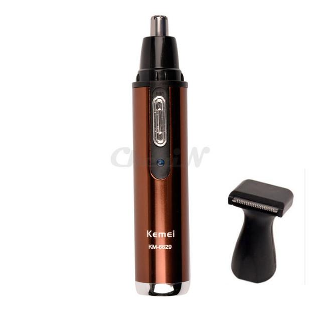 Kemei 2-в-1 электрический нос и ушей триммер для мужчин и женщин аккумуляторная моющийся борода волос по уходу за лицом устройство _ 740