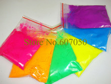 60gram x Mixed 6 NEON Colors Fluorescent Phosphor Pigment Powder for Nail Polish&Painting&Printing(China (Mainland))