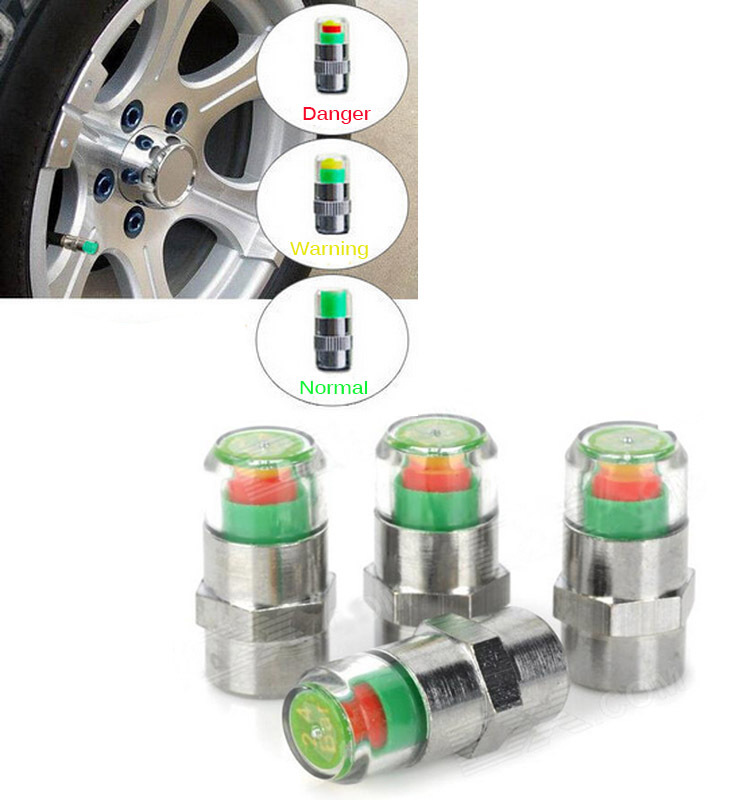 # 4 PCS Tire Pressure Monitor Valve Stem Cap Sensor Indicator Diagnostic Tools(China (Mainland))