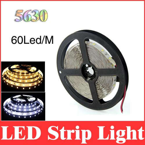 5m 5630 (5730) led strip 16.4ft smd 300leds dc 12v super bright white/warm white non-waterproof flexible strips light lamp RS14(China (Mainland))