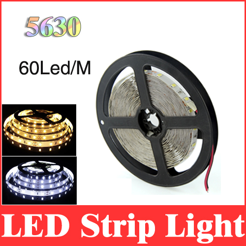5m 5630 (5730) led strip 16.4ft smd 300leds dc 12v super bright white/warm white non-waterproof flexible strips light lamp RS14(China (Mainland))