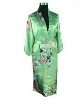 2015 Silk Kimono Robes For Women Satin Bathrobe Long Silk Robes For Bridesmaids Longue Femme Women Dressing Gown Bridesmaid Robe(China (Mainland))