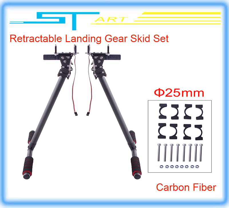 Free shipping 25mm HJ-1100P Carbon Fiber Retractable Landing Gear Skid Set for DJI S800 EVO Multicopters Drone FPV RC Quadcopter<br><br>Aliexpress