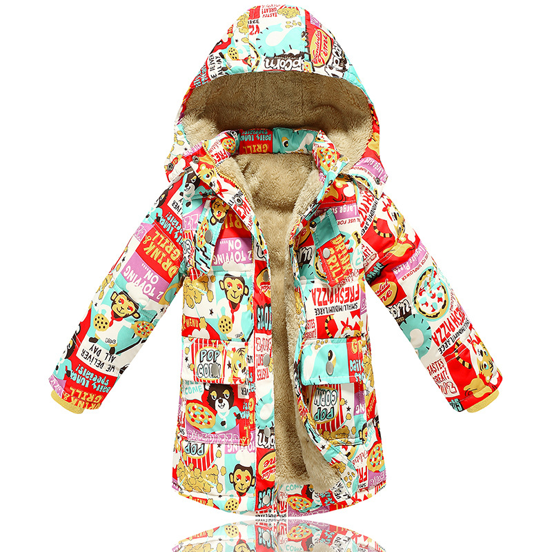 Kids winter coat girls 2016 new brand fashion children warm plus thick down jacket for girls hooded cartton down parka outerwear(China (Mainland))