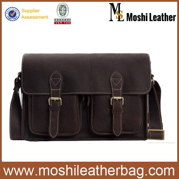 6915 Hotsale Men Designer Leather Bag Genuine Leather Cross Body Bags Portfolio Satchel Messenger Bag <br><br>Aliexpress
