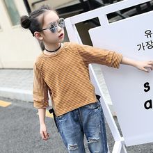 Buy Children T-shirt Teenage 5 6 7 8 9 10 11 12 13t Summer Short Sleeve Striped Child Shirts School Wear T Shirt Girls Casual Tshir for $15.40 in AliExpress store