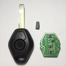 3 Button Diamond Remote Key For BMW E38 E39 E46 EWS System 433MHZ/315MHZ With PCF7935AS Chip HU92 Blade Excellent Quality(China (Mainland))