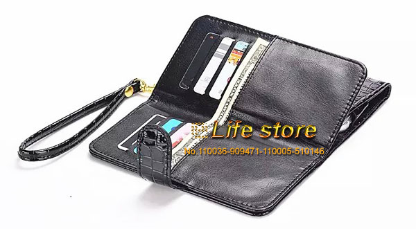 Lady Strap Hand Wallet Card Case Crocodile Leather Phone Case+2 Phone Stand For LG G4 Stylus LS770, G4 Note, G stylo CDMA(China (Mainland))