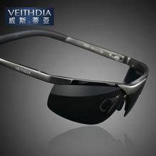 Aleación de aluminio magnesio Veithdia polarizadas espejo conductor gafas de pesca para hombre