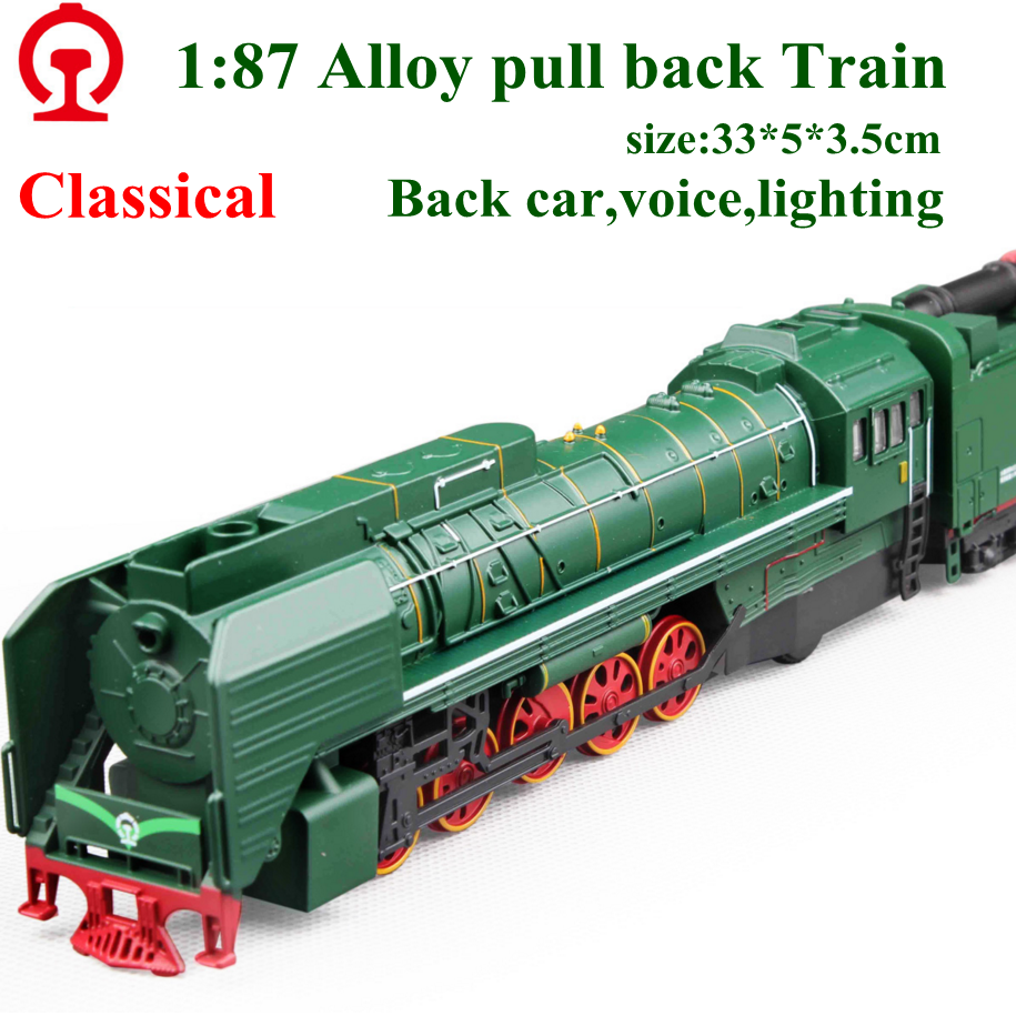 New exquisite model toys european retro steam train locomotive model 1:87 alloy trains pull back car excellent gifts hot sale(China (Mainland))