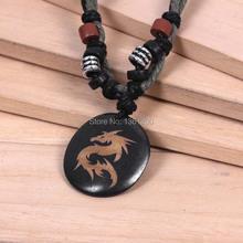 National jewelry small white dragon pattern Bone Necklace Pendant personalized jewelry pendant(China (Mainland))
