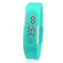 2015 Hottest New Ultra Thin Men Girl Sports Silicone Digital LED Sports Wrist Watch Unisex Fitness