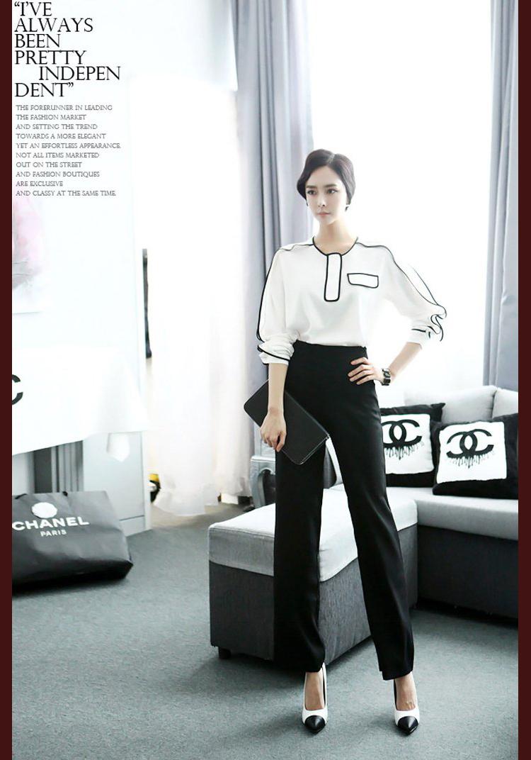 Mulheres ternos escritório formal ternos conjunto calças blusa set calças terno(China (Mainland))
