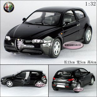 New Alfa Romeo 147 GTA 1:32 Alloy Diecast Model Car Toy collection Black B412(China (Mainland))