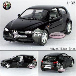 New Alfa Romeo 147 GTA 1:32 Alloy Diecast Model Car Toy collection Black B412(China (Mainland))