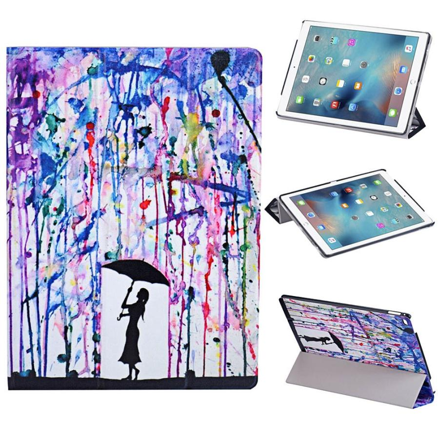Graffiti Ultra Slim PU Leather Stand Back Case Cover Skin For iPad Pro 12.9 Tablet & Wholesale Dec 14 #0112(China (Mainland))