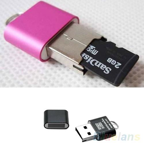 Portable Mini USB 2.0 Micro SD TF T-Flash Memory Card Reader Adapter Flash Drive 2ME1(China (Mainland))
