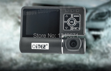 HK OiTEZ Car DVR Real STK 720P+HD+2G2P Lens+Wide Angle 120 Degrees+Car Camera Russian Car Black Box  Recorder Crash Cam G-sensor