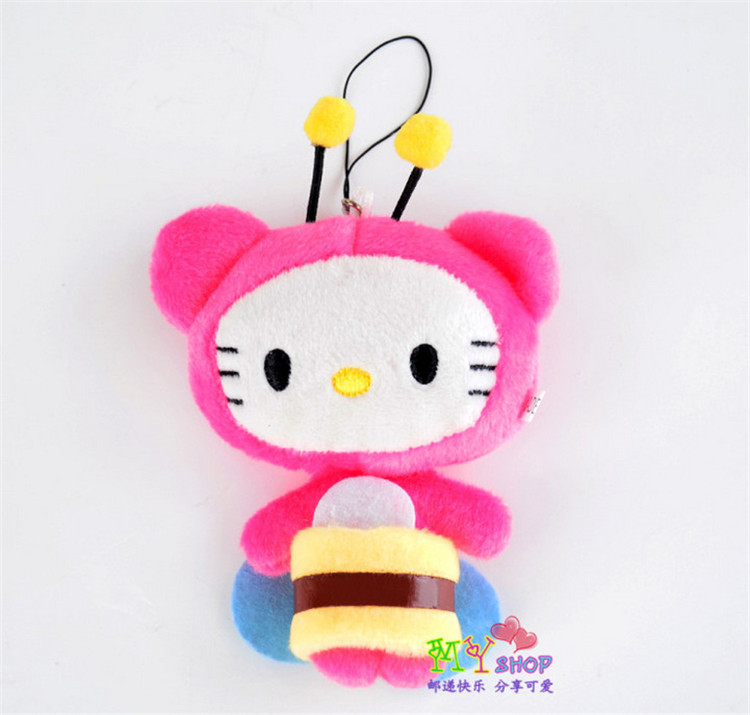 Wholesale / retail 5pieces Creative Plush Toy Japan Lovely Cartoon cat Pendant cell phone Bag Pendant Accessories gift(China (Mainland))