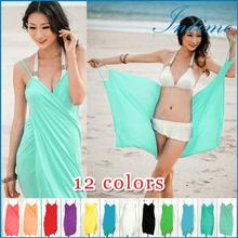 2014 New Sexy Beach Cover up Swimwear Dress Bikini Wrap Dress praia Cover up Dress Free