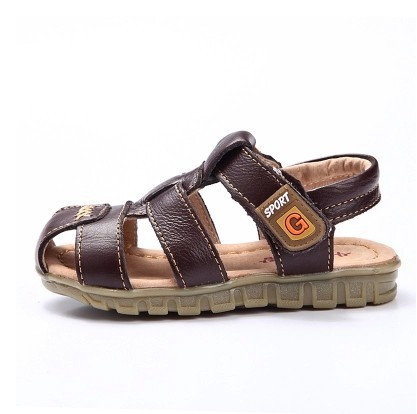Cow Cutting Boy Sandals 2015 NEW Toddler Boys Sandals Summer Kids Leather Shoes Boys Cow Cutting Boy Sandals(China (Mainland))