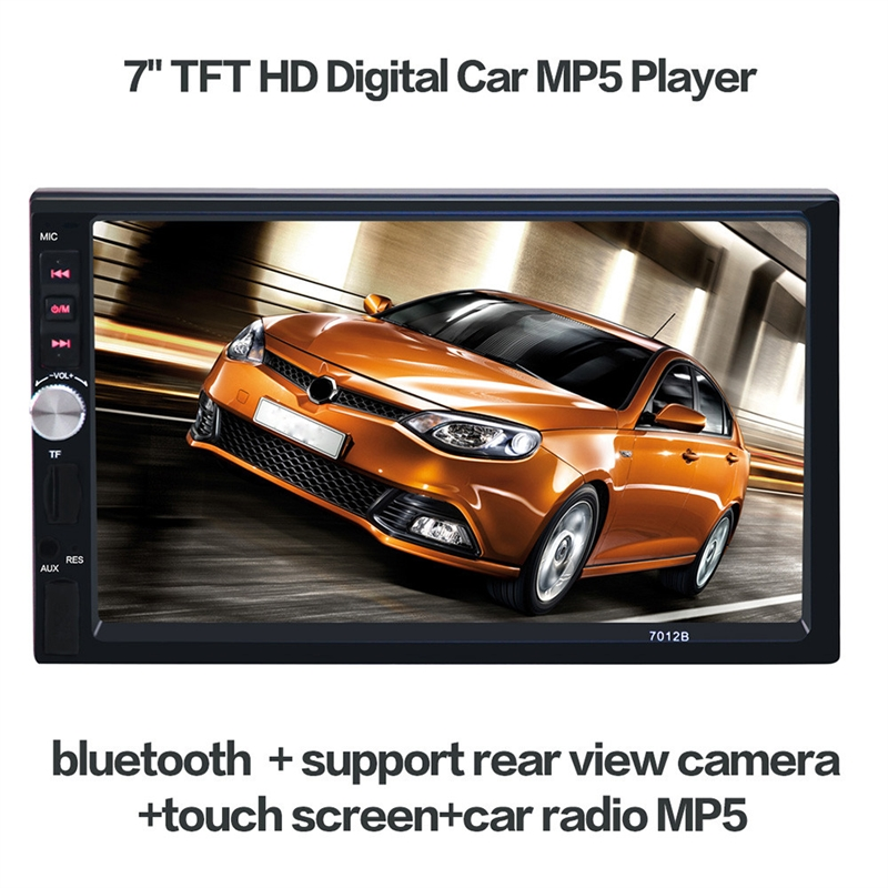 Car Radio Receiver 7 inch HD 1080P Touchscreen Double-DIN MP5/MP4 Player Car FM Radio Receiver Bluetooth + 420 TV Lines Camera<br><br>Aliexpress