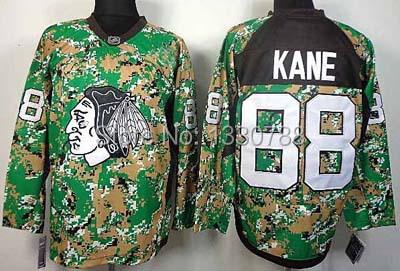 2015 New Authentic Chicago Blackhawks Jonathan Toews Patrick Kane Jersey Green Camo Practice Stitched Mens Hockey Jerseys Shirt
