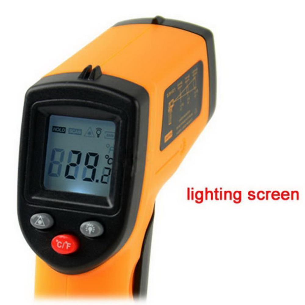 1 Pcs GM320 Non-Contact Laser LCD Display IR Infrared Digital Temperature Thermometer -50~380C (-58~716F) Emissivity 0.95 12:1(China (Mainland))