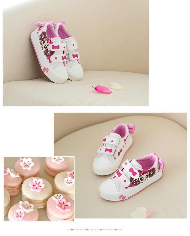 Girls Canvas Shoes Children Sneakers Spring Autumn Kids Sneakers Hand-decorated Bow Girls Lovely Princess Bow Sports Shoes (8)
