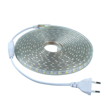 SMD 5050 AC 220 V led-streifen flexible licht 1 Mt/2 Mt/3 Mt/4 Mt/5 Mt/6 Mt/7 Mt/8 Mt/9 Mt/10 Mt/15 Mt/20 Mt + Netzstecker, 60 leds/m Wasserdichte led-licht(China (Mainland))