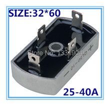 Buy free shipping10PCS/LOT New singe phase Diode Bridge Rectifier QL 32*60 25-40A can selected for $29.88 in AliExpress store