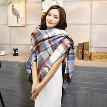 CharmDemon 2016 Scarf Wrap Shawl Plaid Cozy Checkered Women Blanket Oversized Tartan at30