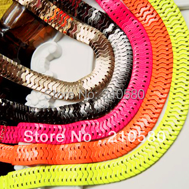 Fashion Jewelry 2015 Women's Necklaces Brand Large Neon Snake Chain HipHop Necklace Free Shipping