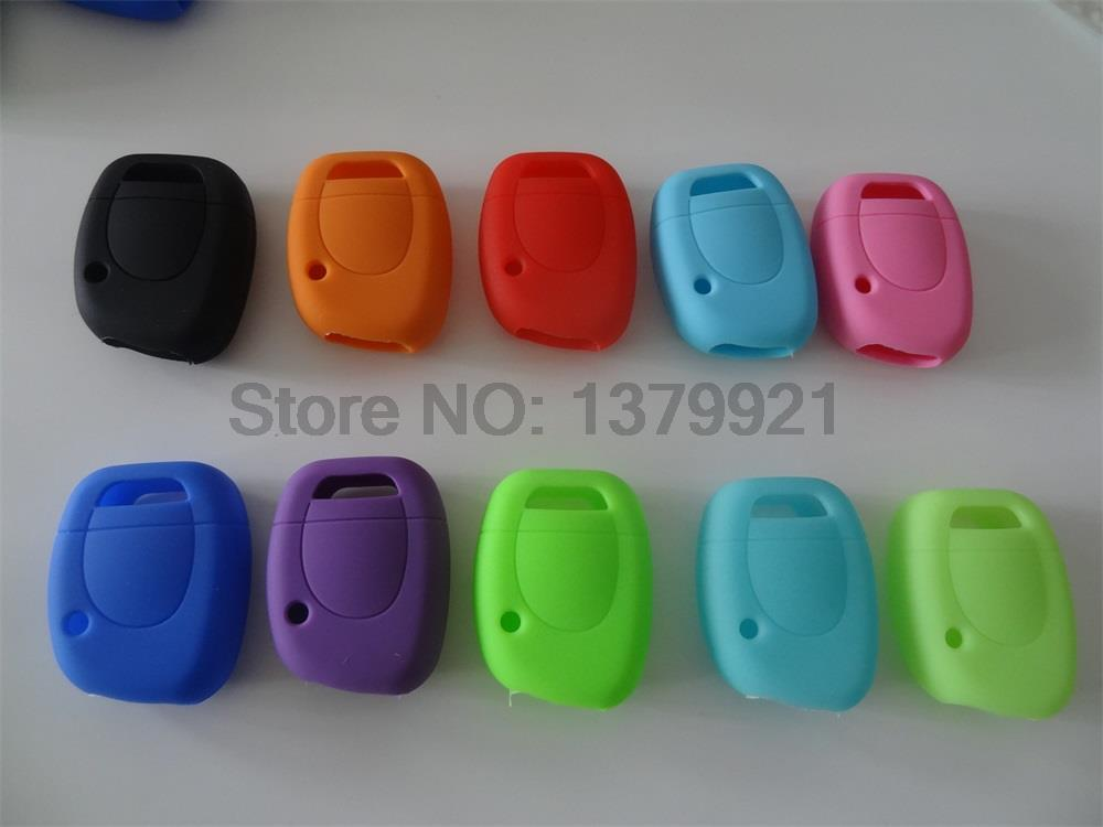 Free Shipping silicone car key cover Case Shell for Renault Twingo Clio Master Kango 1 Buttons key cover(China (Mainland))