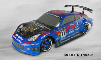 2.4g transmitter RC car HSP 94123 1/10th scale on road drifting cars free shipping