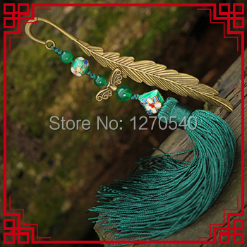Ethnic jewelry long tassel vintage hair accessories antique brass hair jewelry, traditional vinatge cloisonne hair pin(China (Mainland))