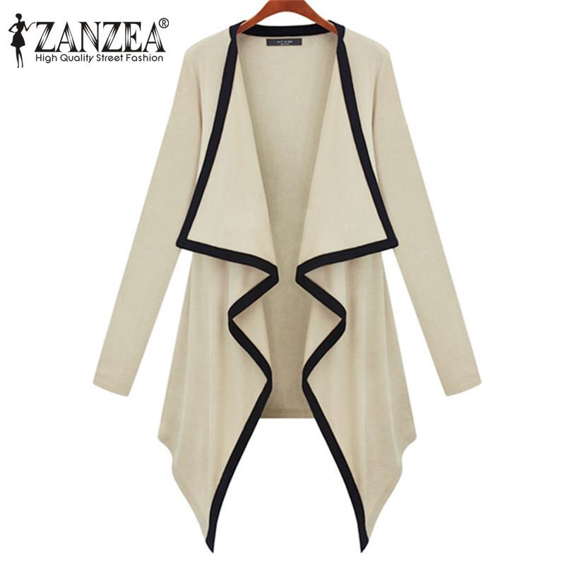Vintage Women Long Sleeve Irregular Hem Cardigan Shirt Tops Knit Kimono Coat Casual Loose Asymmetrical Cape Poncho Jacket - Top Fashion Clothes store