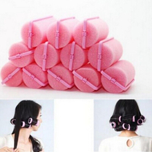 12 Pcs Curler Hairdressing tool Soft DIY Styling Tools Sponge Hair Styling Foam Hair Rollers Random Color