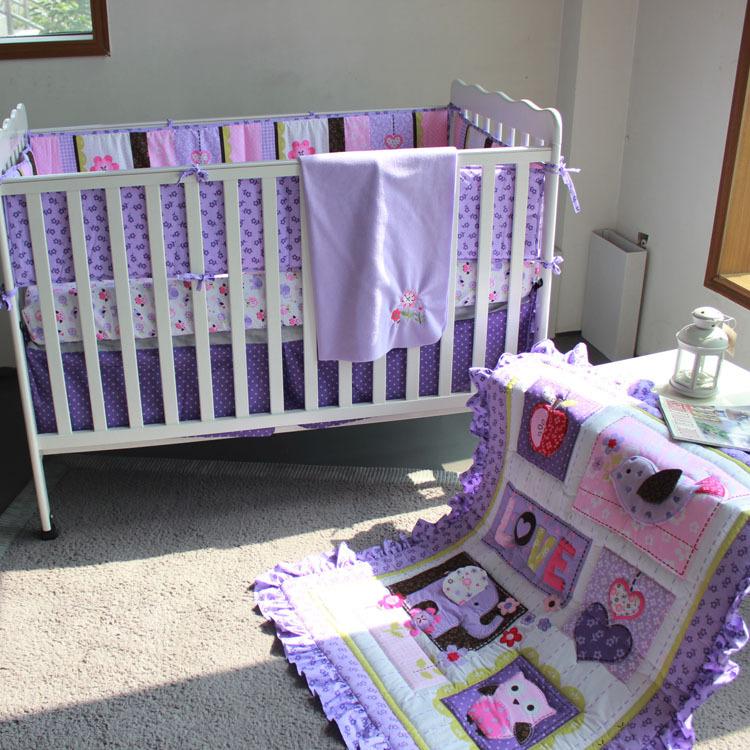 Buy Purple Animals Girls Baby Crib