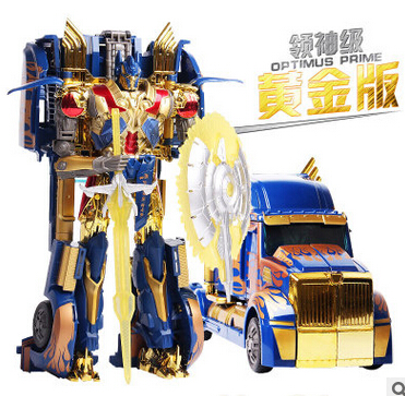 Hot sale new cool Transformation 4 Anime Optimus Pe Bumblebee Grimlock Cars Brinquedos Robot Action Figures Kids Toys Juguetes