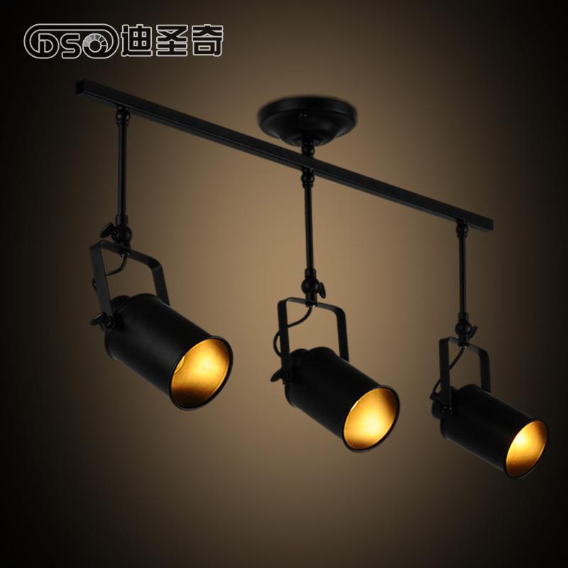 Loft Style Black Metal Ceiling Spotlight Light Industrial style Living Room Light Bar Light Loft LIght Free Shipping<br><br>Aliexpress